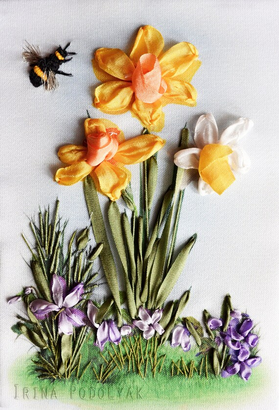 100+ Silk Ribbon Embroidery! ideas | silk ribbon embroidery...
