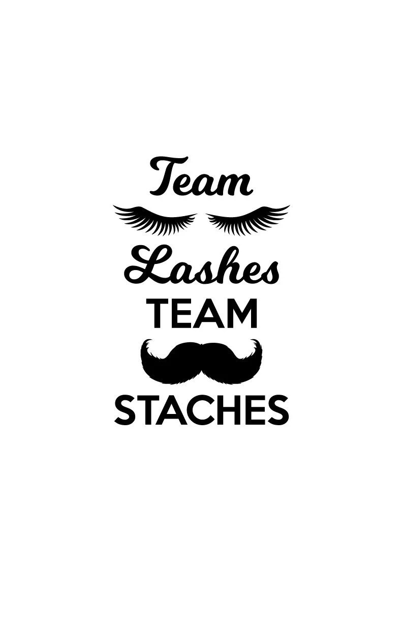 Staches and Lashes Svg. Gender Reveal SVG. Gender Reveal