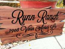 Outdoor Wood Signs Custom Personal Sign