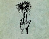 Hand Pointing to Sun - An...