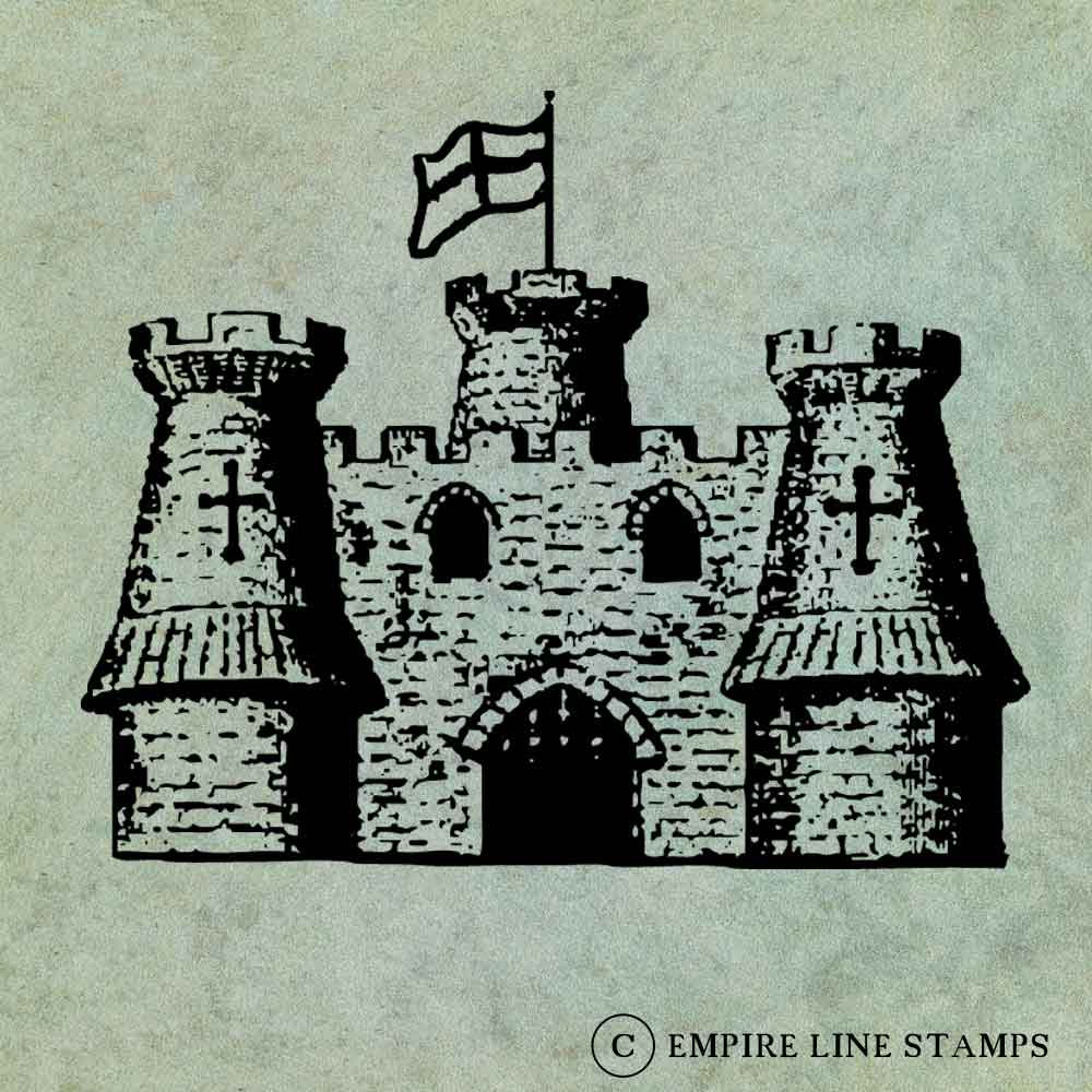 Castle Keep with Flag Fly...