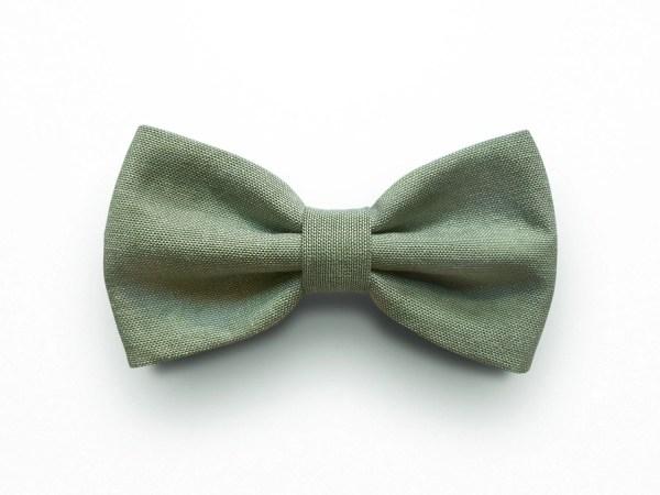 Sage Green Bow Tie Men Pre-tied Adjustable