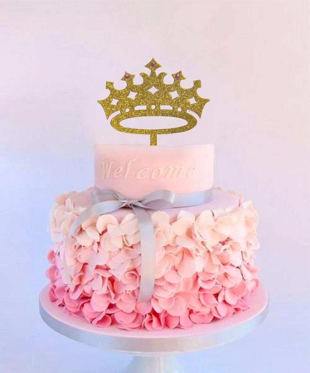 Princess Cake Topper Girl Birthday Queen First Birthday Etsy