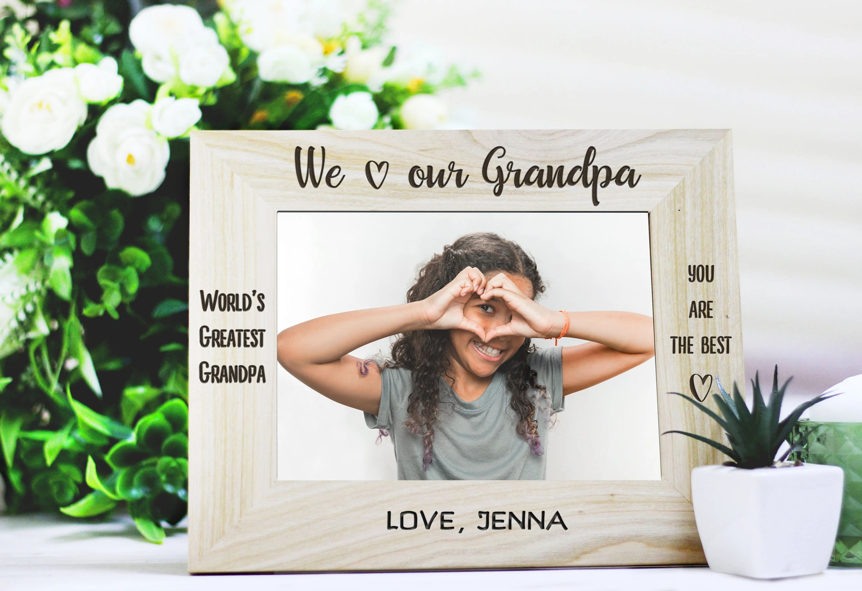 personalized engraved photo frame