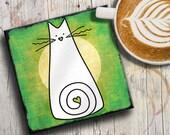 Cat Coaster: Cat Lover Gi...