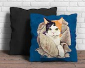 Cushion with cat portrait...