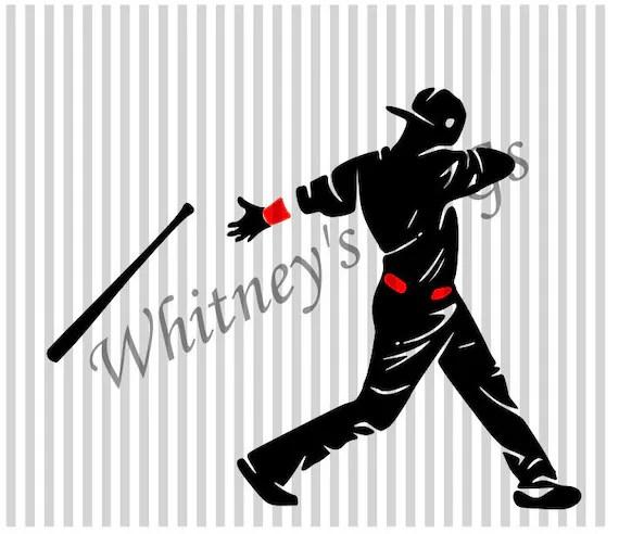 Download Dabbing Baseball Player SVG DXF Cutting File | Etsy