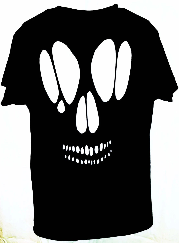 Skull Cutout T Shirt Top Goth Skull Cut Out Shirt