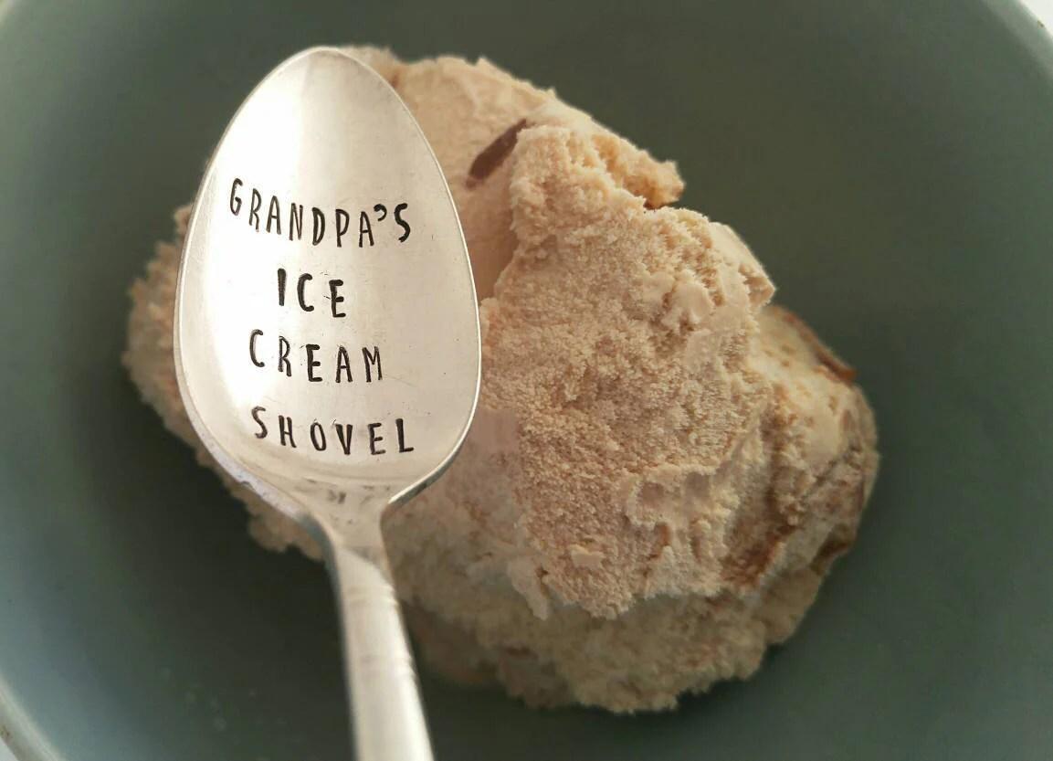Grandpa's Ice Cream Shovel / Gift for Grandpa / Birthday image 1