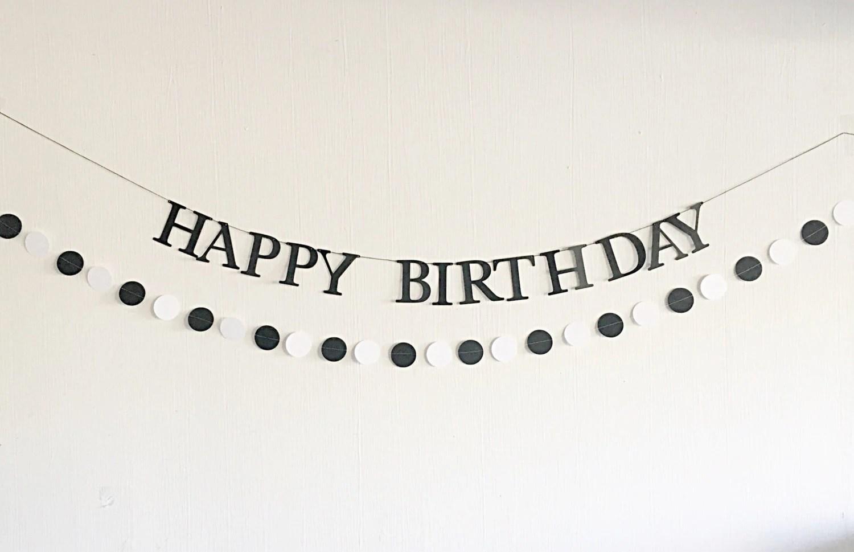 Happy Birthday Schriftzug Schwarz