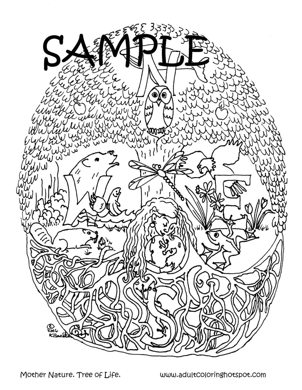 Malvorlage Baum Des Lebens - Ausmalbilder und Vorlagen