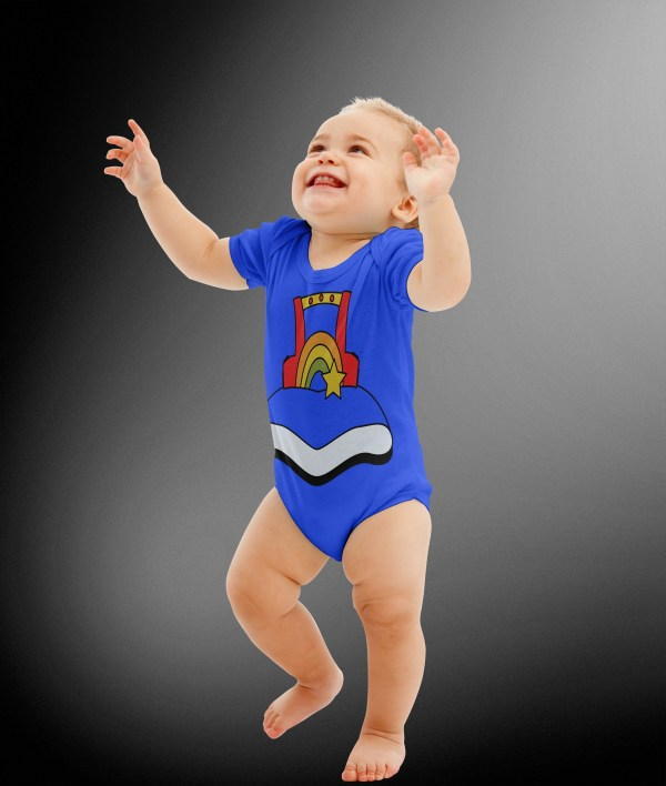 Rainbow Brite Costume Body Suit Halloween Kids