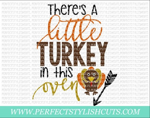 Download Turkey In The Oven SVG DXF EPS png Files for Cameo and   Etsy