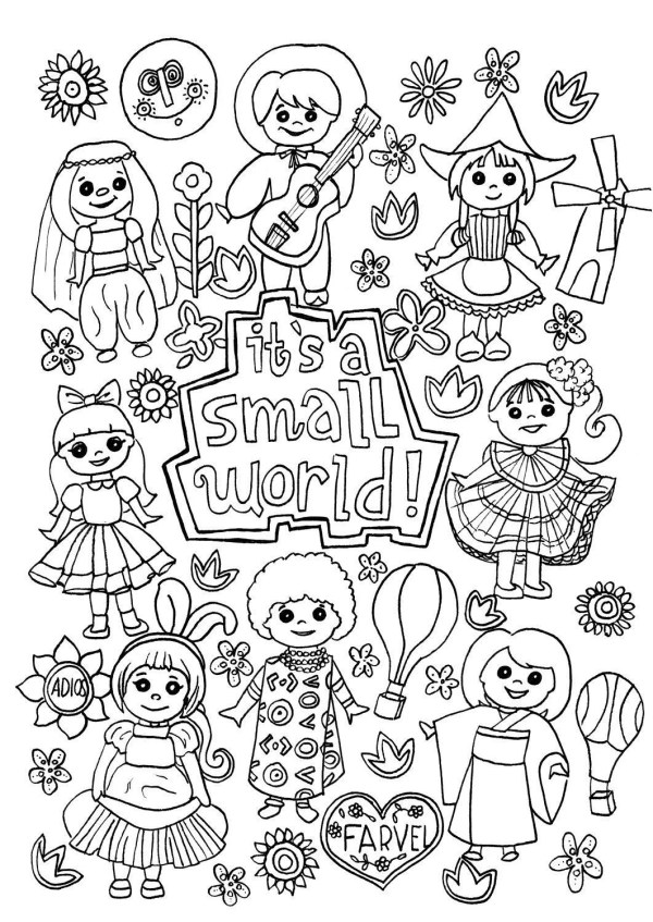 world coloring page # 18
