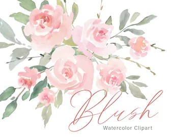 watercolor flowers etsy