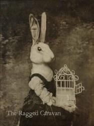 Victorian rabbit art print 5x7 gothic art rabbit art Etsy