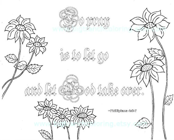 Let Go Let God Adult Coloring Page Colouring Coloring for