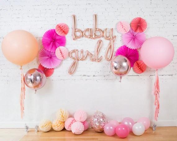 baby girl balloons baby