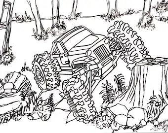 Traxxas Summit Trail Truck Drawing Truck 4x4 RC Crawler
