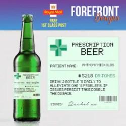 Personalised Prescription Stout Beer Spoof Bottle Label 4 Etsy