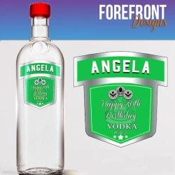 Personalised Green Vodka Bottle Label Ideal Etsy