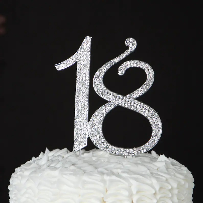 18th Birthday Cake Candle Number 18 For Party Decoration Decorations