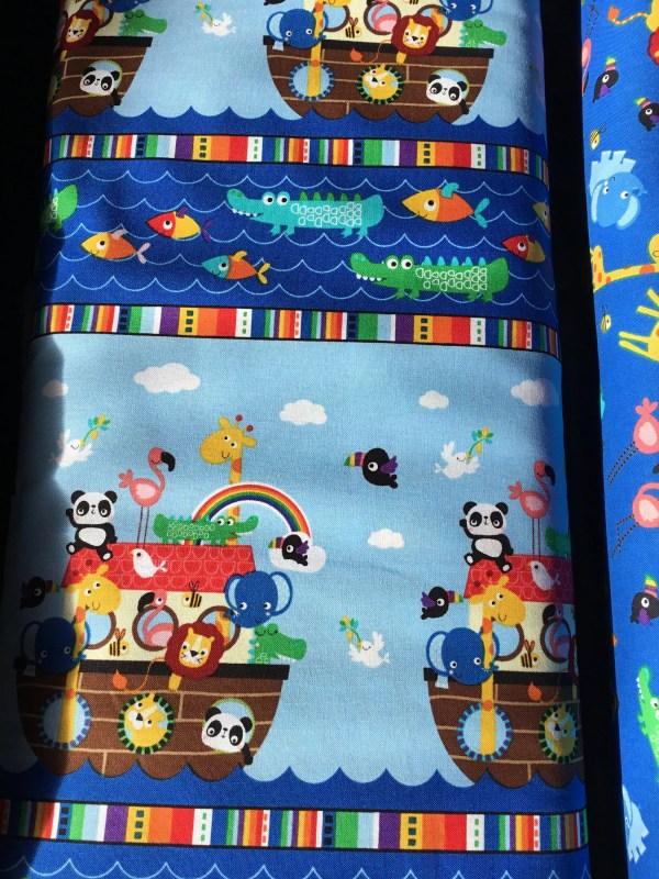 Timeless Treasure Kids Border Fabric Noah Ark Animals