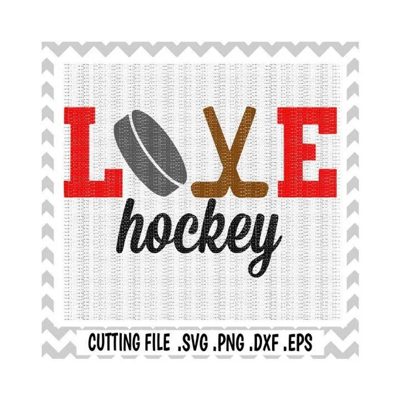 Download Hockey Svg Love HockeyHockey Mom Ice Hockey Sports | Etsy