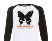 Official MorbidlyBeautiful logo Raglan baseball shirt  - home is where the horror is