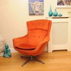 Swivel Chair Em Portugues Burnt Orange Armchair Retro Etsy Mid Century Egg Design In The Style Of Arne Jacobsen 1960 S Read Shipping Info