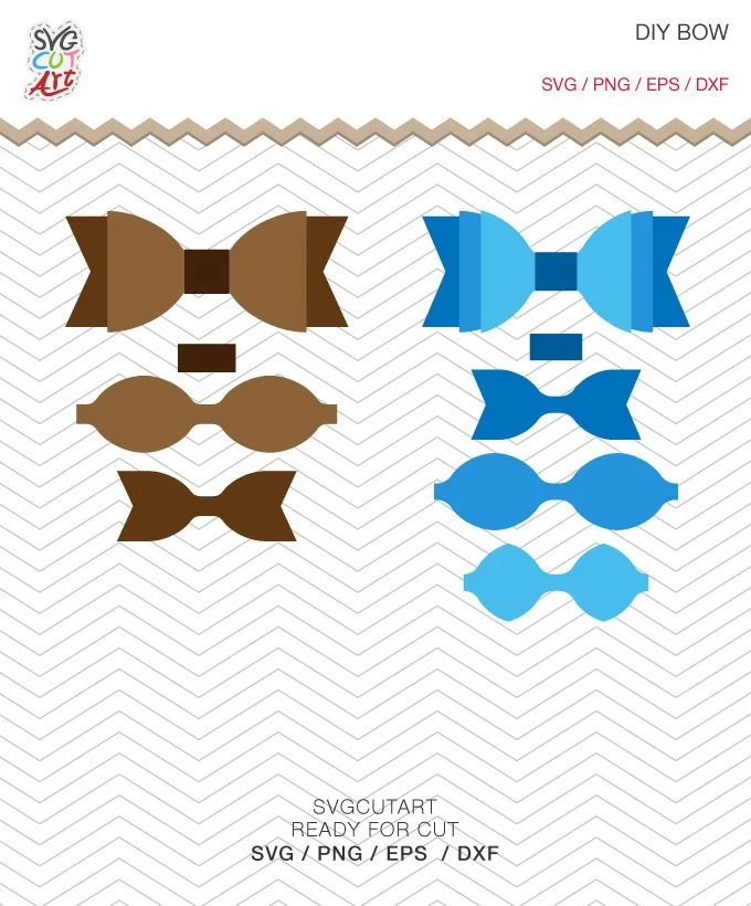 Bow Svg : Template, Craft, Leather