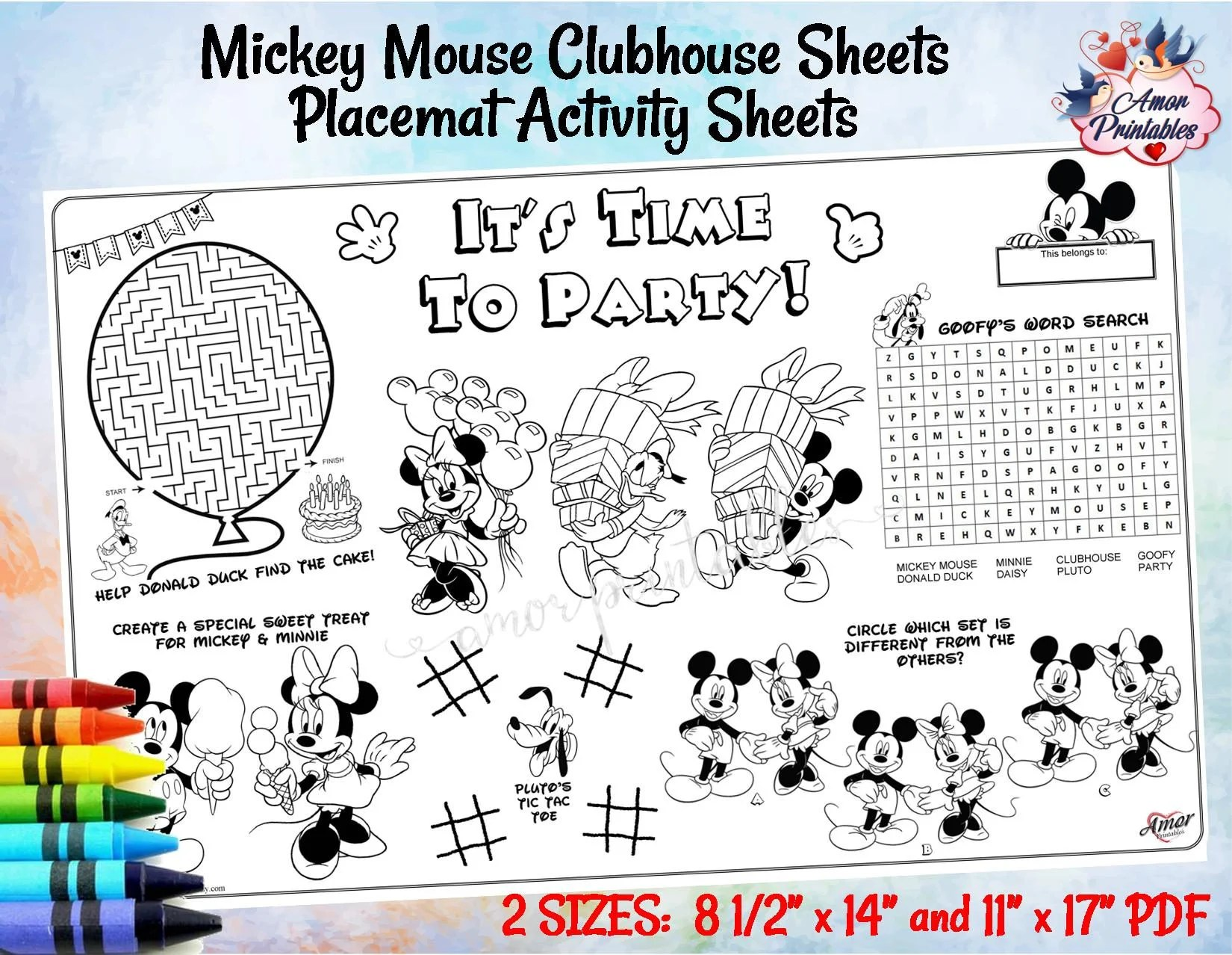 Minnie Mouse Tracing Worksheets