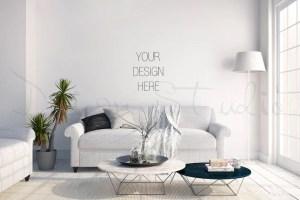 living interior wall blank mockup background poster scandinavian