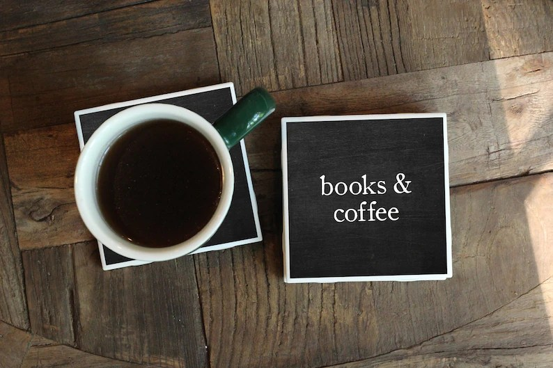 Bookish coasters - holiday gifts for book lovers