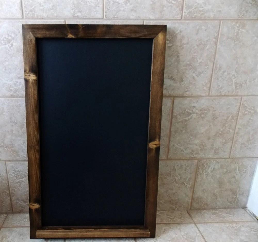 wood framed chalkboard large