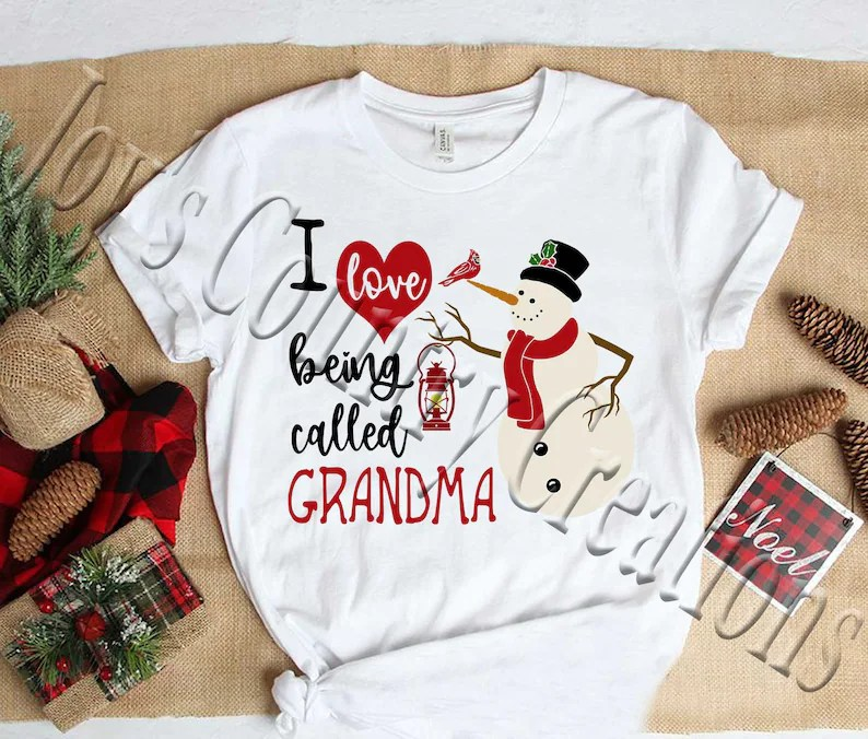 I love being called Snowman Lantern Grandma Mimi Nana | Etsy