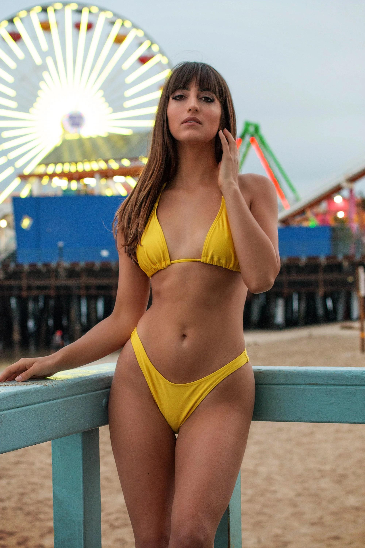 Sunflower Bikini TOP 80s 90s Drop shaped UV protection