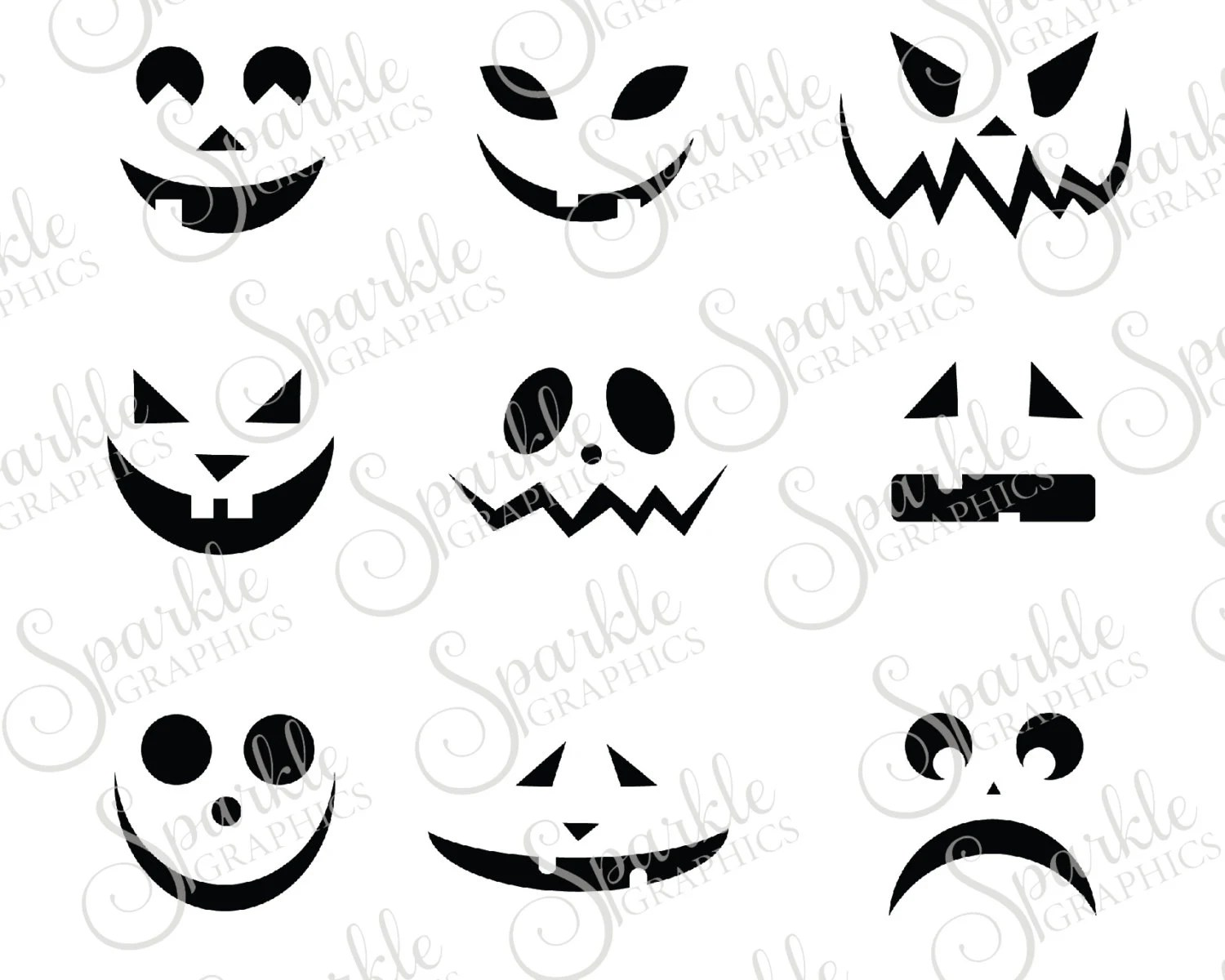 Jack O Lantern Faces Cut File Halloween Svg Fall Svg