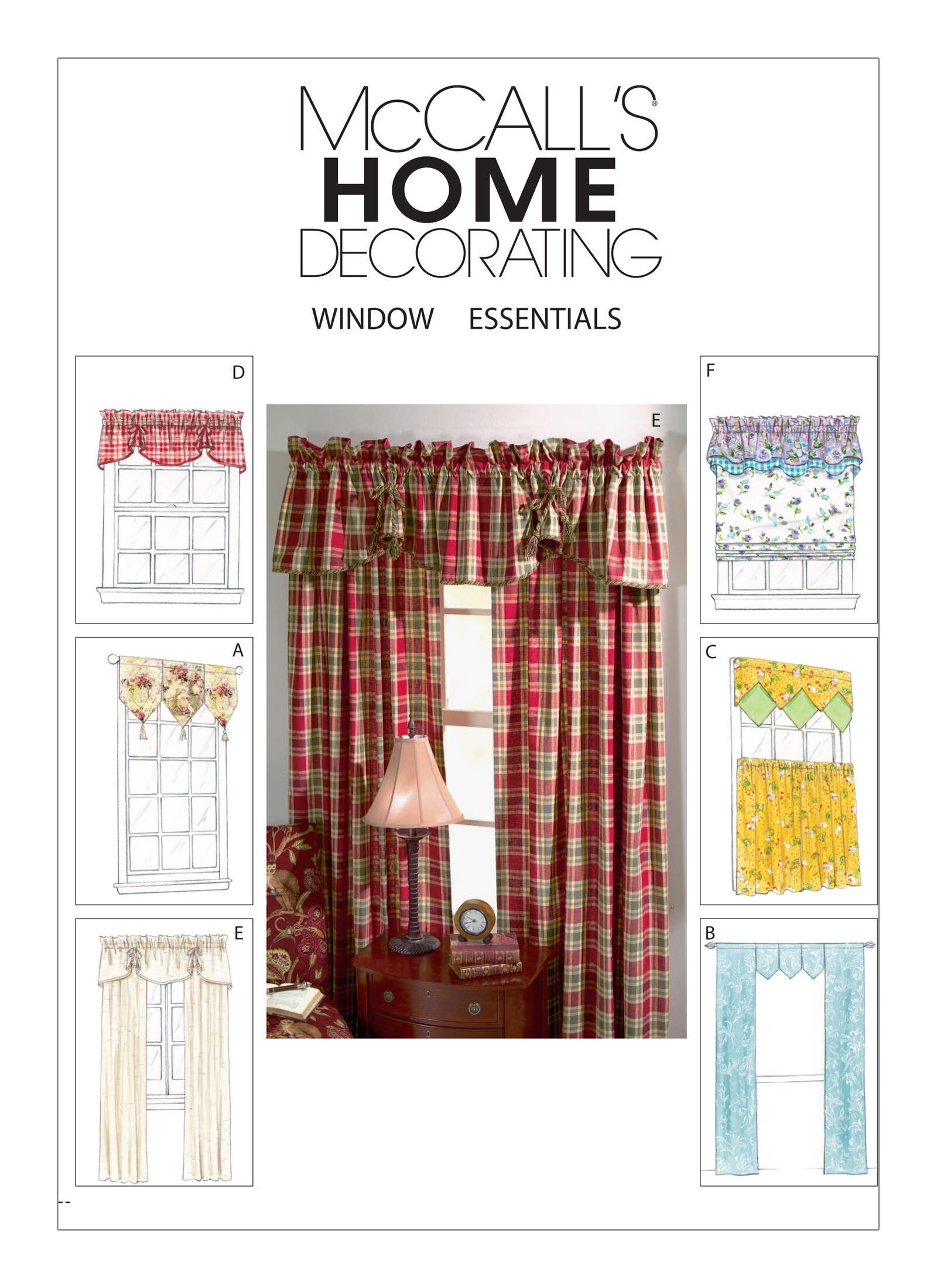Sewing Pattern For Window Valances And Curtain Panels