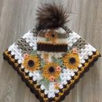 Crochet Baby Blanket Baby Blanket Handmade Baby Blanket Sunflower Baby Blanket Crocheted Baby Blanket Baby Sunflower