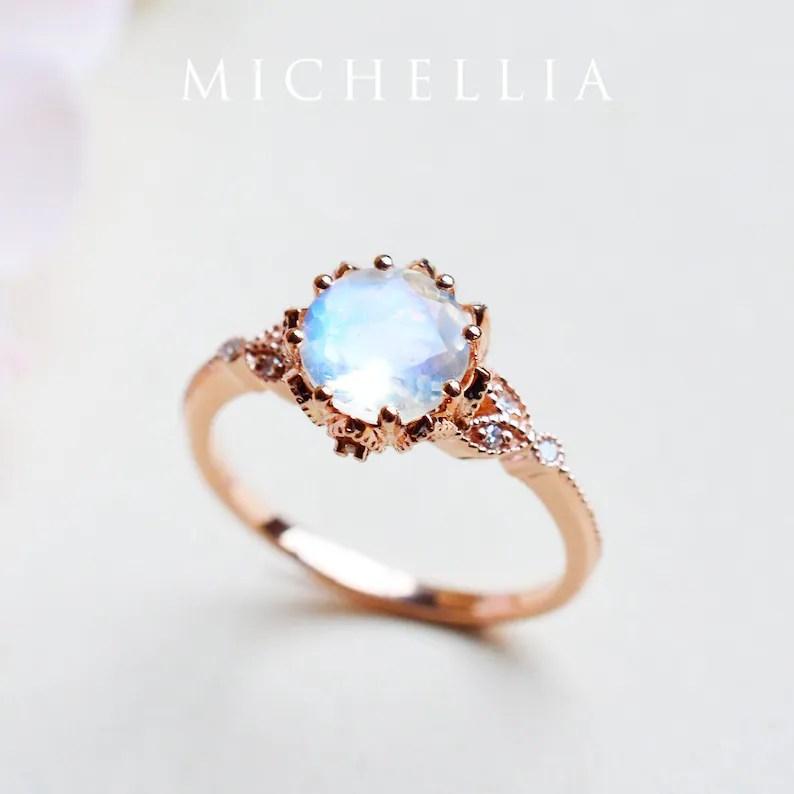 evanthe moonstone engagement ring