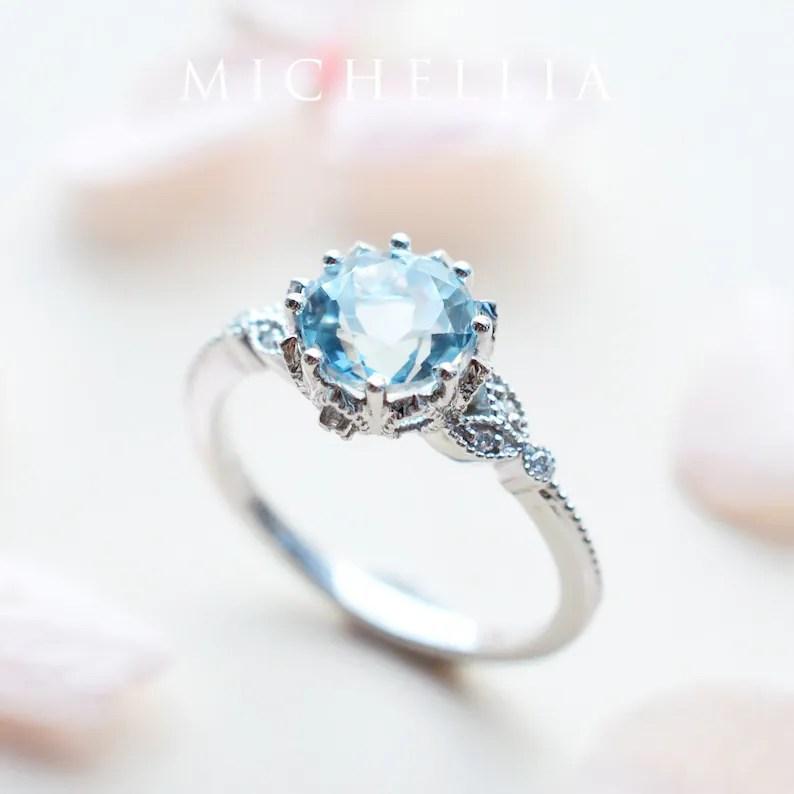 evanthe aquamarine engagement ring