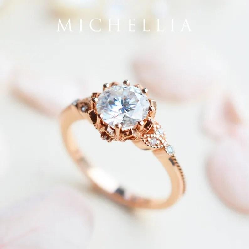 evanthe moissanite engagement ring