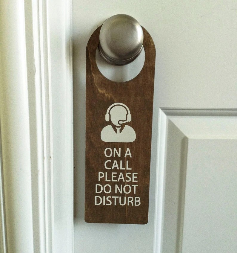Wood On A Call Please Do not Disturb Door Hanger