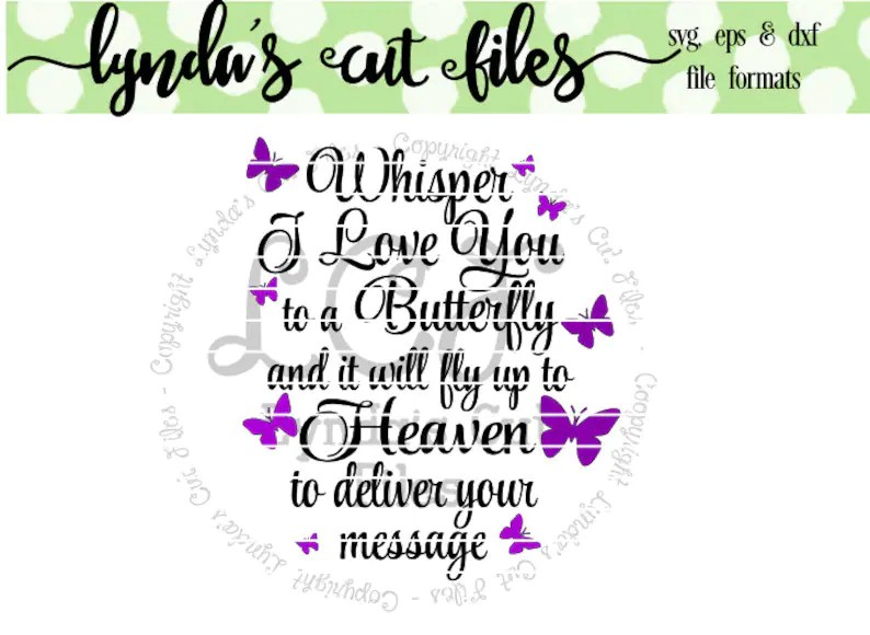 Download Whisper I love you to a Butterfly SVG/DXF/EPS file   Etsy