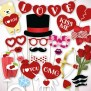 Valentines Photo Booth Props Printable Pdf File For Your