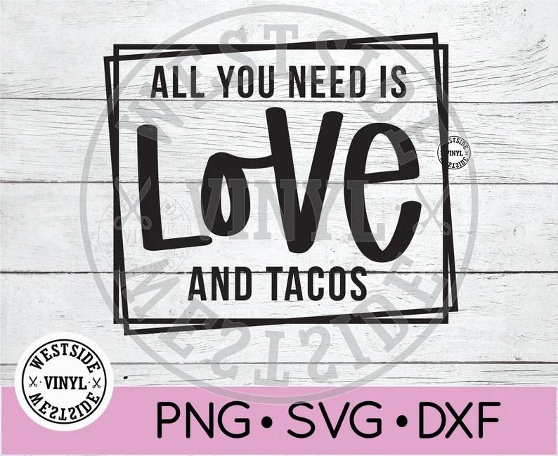 Download LOVE AND TACOS svg File Svg novelty svg svg download | Etsy