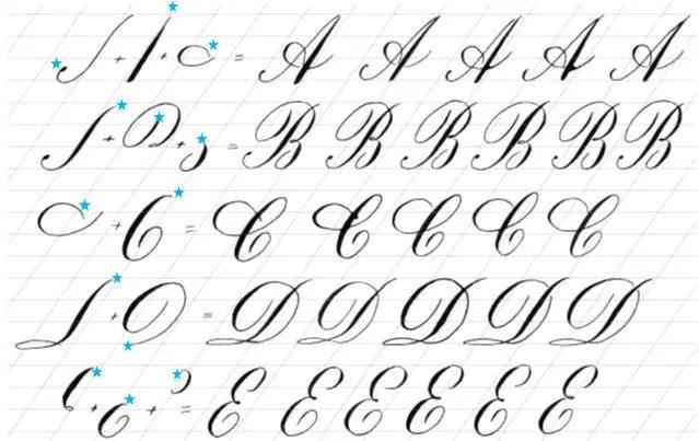 Calligraphy Part 3: Majuscule Copperplate Alphabet