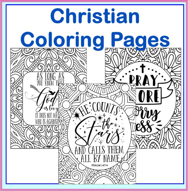Christian Coloring Pages- 28 Bible and Christian Based Teaching Coloring  Pages, Bible Verses Word Art Coloring Sheets- Bible Printables