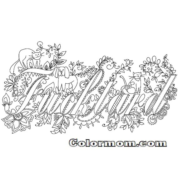 Items similar to Swear Word Coloring Book Featuring Stress